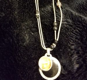 Onyx amber Double strand necklace